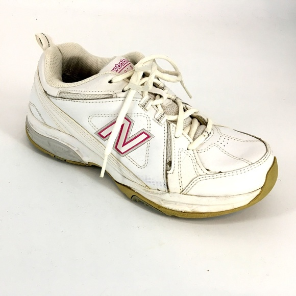 e9300daed53e New Balance Shoes | 608 White And Pink Lace Up Sneaker | Poshmark